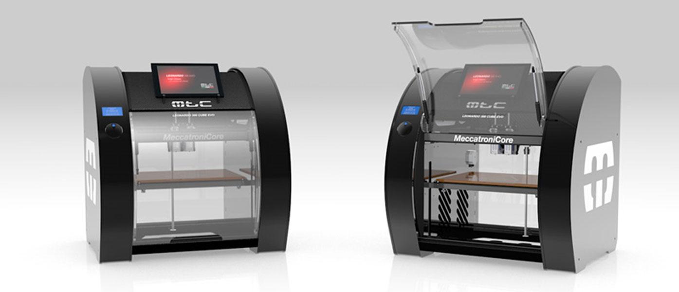 3D-printer-Meccatronicore-Leonardo-300-EVO-HT-dual-view